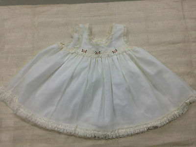 Vintage baby summer dress white with lace