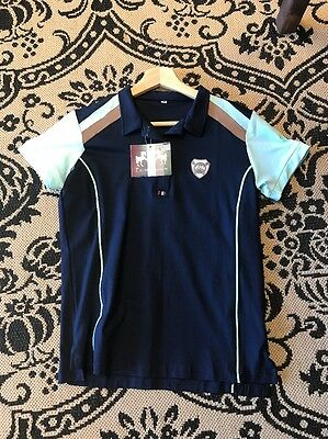 Equine Couture Carrington Short Sleeve Polo Shirt Navy/Blue Glass Ladies S
