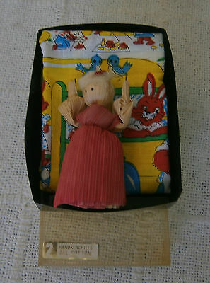 Vintage Childs Boxed 2 Hankies & Doll  - New