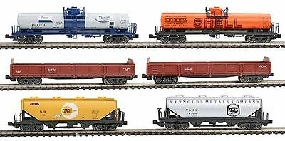 KATO 1066275 N 6 Car Mixed Freight Set, Gondola Hopper Tank Car 106-6275   NEW