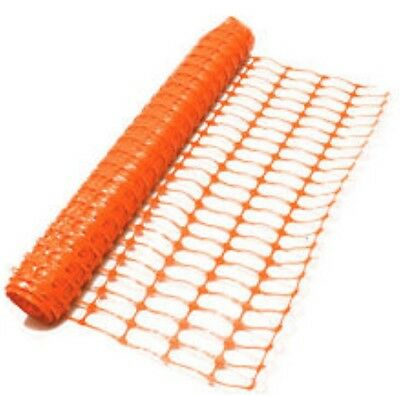 Orange Safety Fence Temporary Barrier Mesh 1m x 50m Building Site Crowd Control