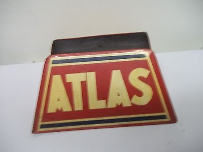 Vintage Original Atlas Advertising Tire Holder Rack Stand Metal