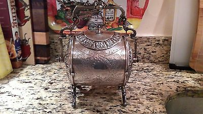 Victorian silver plated biscuit barrel