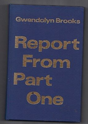 Gwendolyn Brooks SIGNED Journal: Report From Part One
