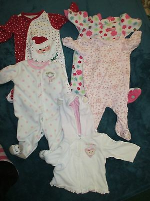 Lot Baby girl jumpsuit pajama romper winter outfit 3 months