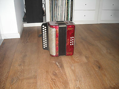 Hohner Erica C/F, Melodeon, very good condition,