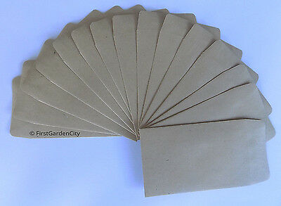 Brown Gummed Money Envelopes 100mm x 62mm - Free Post and Packing
