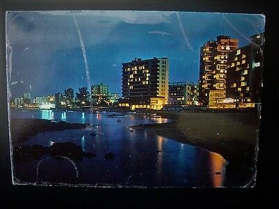 CYPRUS POSTCARD  SERENITY AT NIGHT FAMAGUSTA by Sunnyy 13 Jun 1974 posted