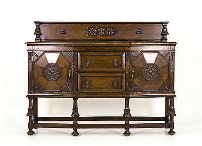 596A Antique Scottish Oak Sideboard, Dresser, Buffet