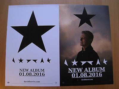 Official Columbia Records David Bowie Blackstar Record Store Promotional Poster