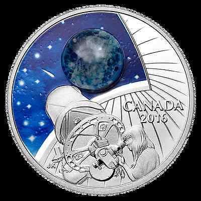 2016 THE UNIVERSE - OPAL Glow-In-The-Dark Canada $20 .9999 1 oz Silver Coin