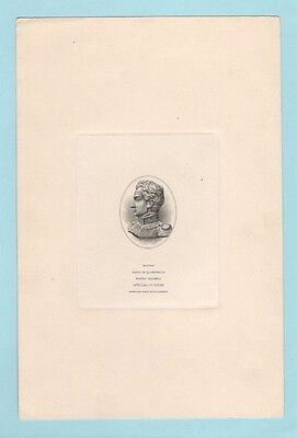 COLOMBIA; vignette die proof of Bolivar, American Bank Note Company