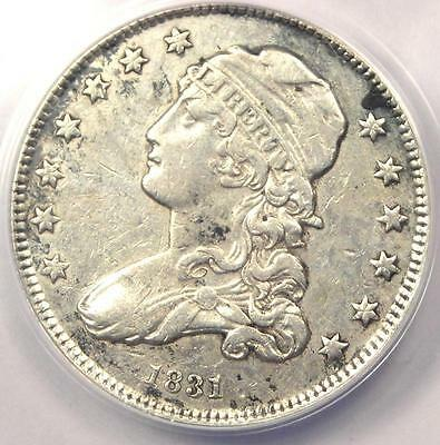 1831 Capped Bust Quarter 25C - Certified ANACS XF40 Details (EF40) - Rare Coin!