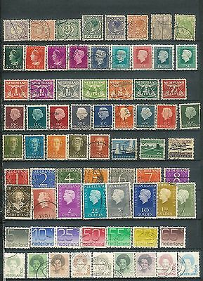 Netherlands selection of  Vintage stamps used (Over 70)  Lot 1 NICE LOT D19