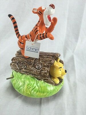 Schmid Winnie the Pooh & Tigger Music Box Tune Children's Marching Song Tagged