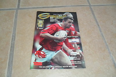 Salford Reds V Bradford Bulls 1/6/97   Rugby League Programme