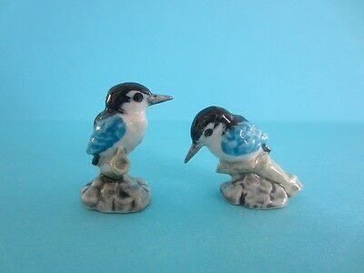 NEW AMAZING TWO BIRD KOOKABURRA HEAD STRAIGHT& DOWN FIGURINE SOO CUTE *Mint*