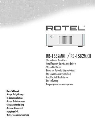 rotel rb 1582mkii amplifier owners instruction manual u2022 18 99 rh picclick com