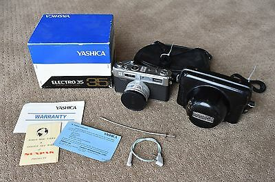 Yashica Electro 35   35mm Film Camera with original box and extras!!!!!