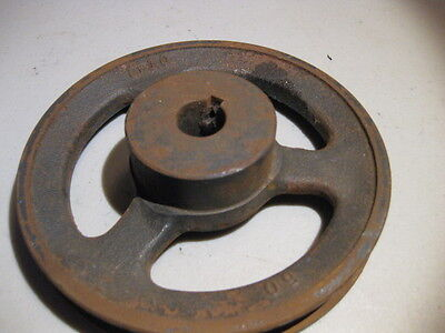 "Nice Old, Cast Iron, V belt Pulley 5"" - Steampunk / Industrial Machine Age"