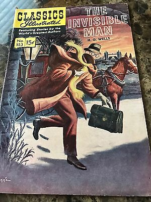 Classics Illustrated The Invisible Man 153 HRN 149 By HG Wells
