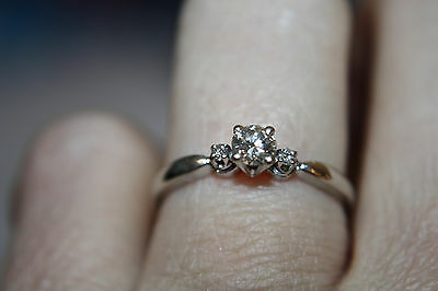 14k White Gold Diamond Engagement Ring 1/3 Carat