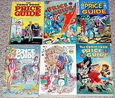 Overstreet Comic Book Price Guide 6pc Lot #6 7 8 9 10 12 Clean Condition