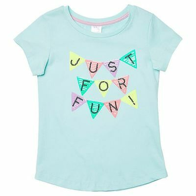 NEW Short Sleeve Sequin Just For Fun Flaggs T-Shirt Kids