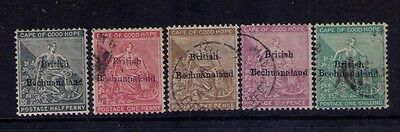BECHUANALAND STAMPS SC# 5-9 CPLT SET 1 MH+USED Cat.$269 RARE