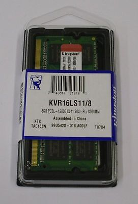 NEW Kingston 8GB (1x8GB) DDR3 1600MHz KVR16LS11/8 Sodimm PC3-12800 204 PIN RAM