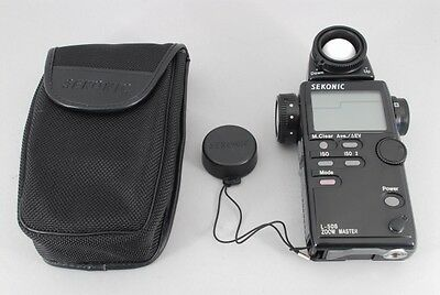 【MINT】SEKONIC L-508 ZOOM MASTER Spot Light Meter w/Case from Japan #212F