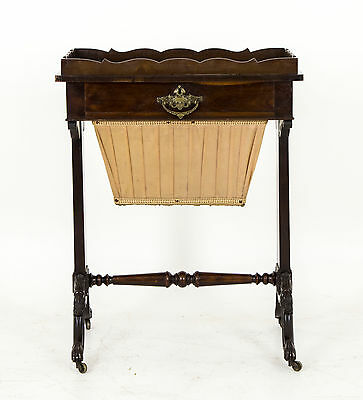 Antique Sewing Table,  Scottish Victorian, Walnut Sewing Chest, B510  REDUCED!!