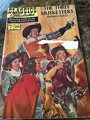 Classics Illustrated The Three Musketeers 1 HRN 169 By Alexander Dumas
