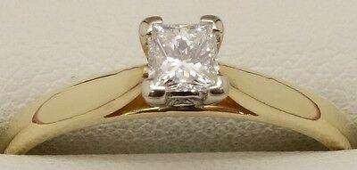 Solid 18Ct Yellow Gold Natural Solitaire Diamond Engagement/dress Ring-Val $2186