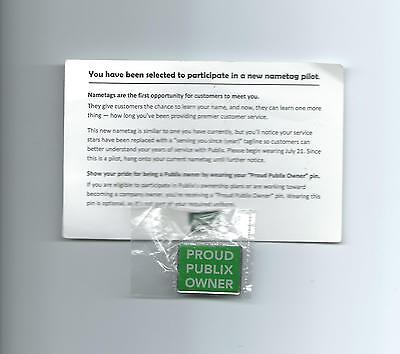 Very Rare Large Size Proud Publix Owner Pin With Original Card