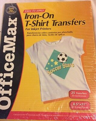 Iron-On T-Shirt Transfers For Inkjet Printers 25 Sheets