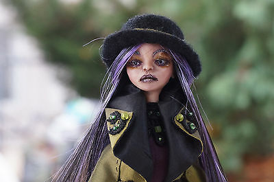 OOAK Fantasy Figure Sculpture, Polymer Clay Art Doll