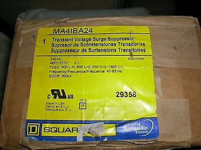 Square D MA4IBA24 Transient Voltage Surge Suppressor 240KA