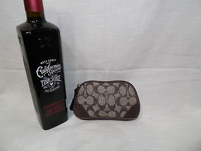Authentic COACH Small Zip wool Leather Coin Purse