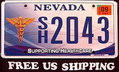 "NEVADA "" SUPPORTING HEALTHCARE "" DISCONTINUED !!Graphic License Plate FREE US SH"