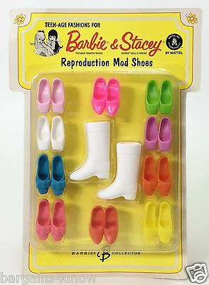 Teen-Age Fashions For Barbie & Stacey Reproduction Mod Shoes Nrfb