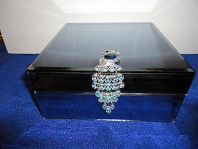 "Lenox ""shimmering Peacock Jewelry Box"""