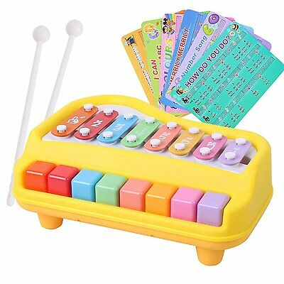 baoli 2 in 1 Piano and Xylophone toy with 8 Key Baby Kid Child Musical Toys