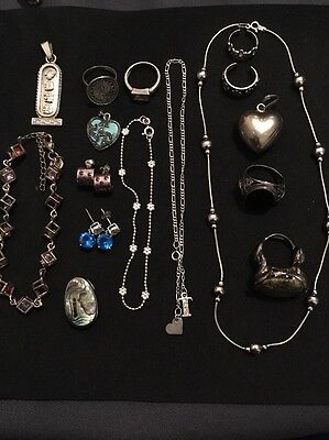 """Lot Vintage -Silver 925/ Sterling Jewelry-""""""""-Scrap Or Not"""""""" 95 Grams"""
