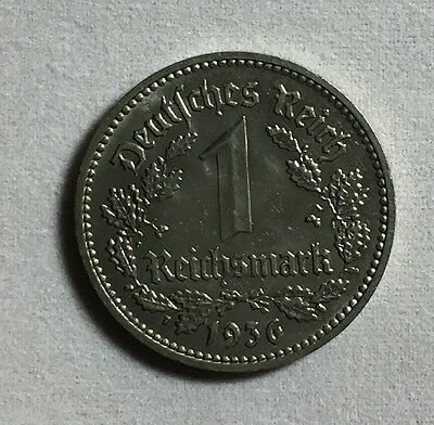 Germany1936F 1  ReichMarks Coin High Grade