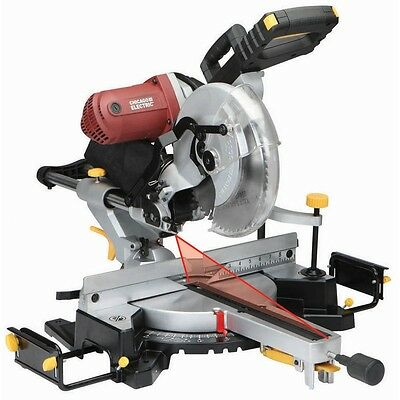 NEW 12 inch Double Bevel Sliding Compound Miter Saw With Laser Guide System