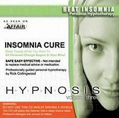 Insomnia Cure Hypnosis CD by Rick Collingwood -