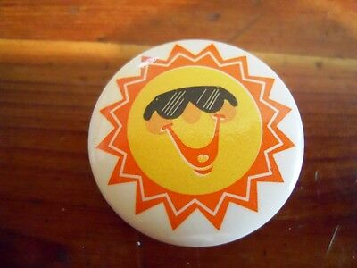 "Sun cool hot summer funny 1"" pinback button"
