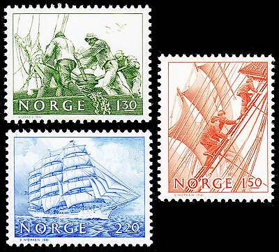 Norway 1981 Set of 3 Stamps Chritian Radich Sailing Ship 783 785 MNH #625