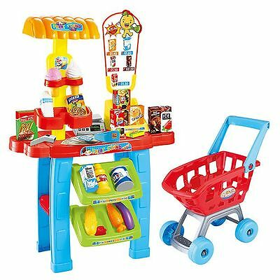 NEW Kids Space Supermarket Set With 63 Pieces Age: 3+